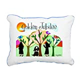 """CafePress - Golden Jubilee TREES SUN - 12""""x15"""" Canvas Pillow, Throw Pillow, Accent Pillow"""