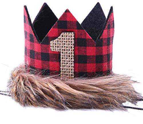 Why Choose WAOUH Lumberjack Crown for 1st Birthday - First Birthday Hat for Lumberjack, Buffalo Chec...