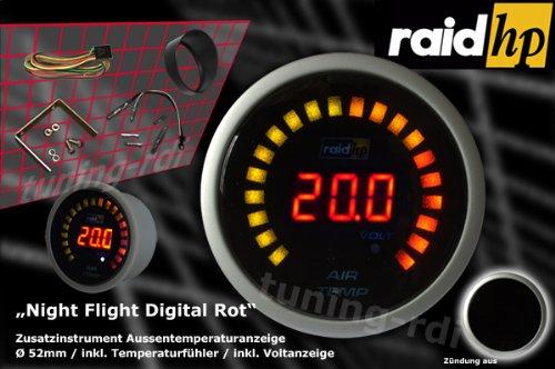 Amazon.com: Raid HP 660543 Night Flight Series Auxiliary Digital External Temperature Gauge Red: Automotive