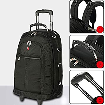 Boarding Bag XIANWEI Trolley Backpack Travel Backpack Color : Black, Size : 53x19x35cm Shoulder Trolley Bag Computer Backpack Business Bag for Men and Women