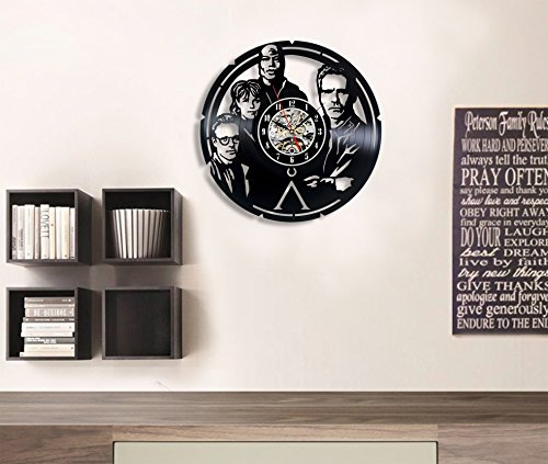 Stargate Vinyl Record Wall Clock – Decorate Your Home with Modern Art – Gift for Kids, Girls and Boys