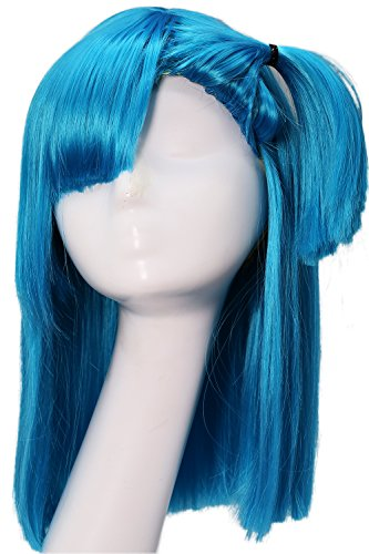 [Bulma Wig Dragon Ball Z Cosplay Pre-styled Wig Hair Accessories Coslive] (Bulma Costume)
