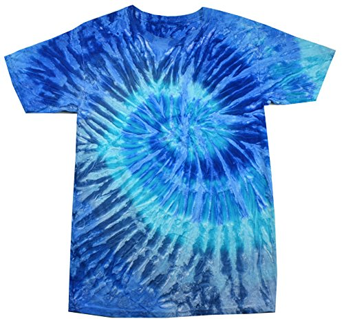 (Colortone Tie Dye T-Shirt LG Blue Jerry)