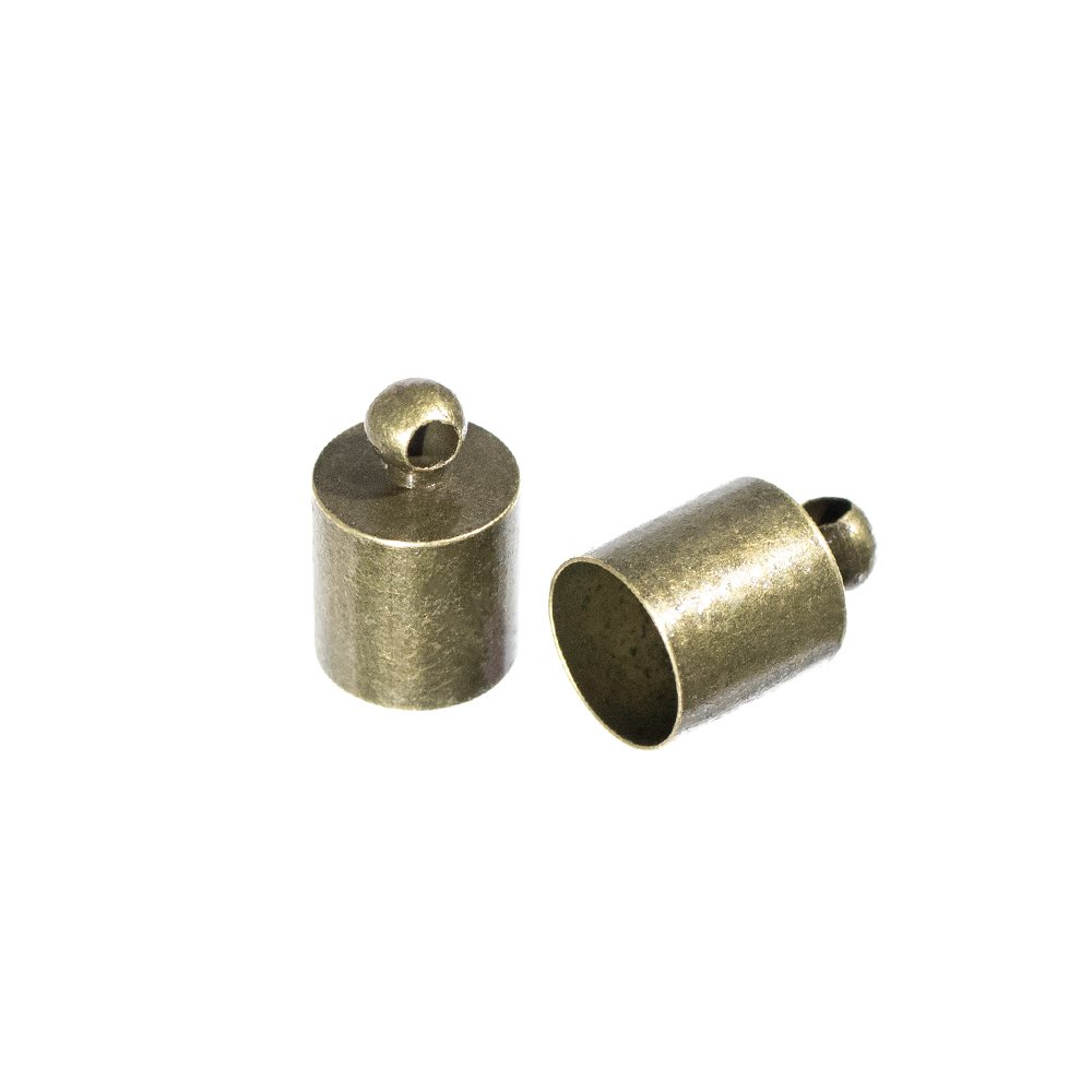 Craft County Cord End Caps 7 mm Bronze, 2 Pack