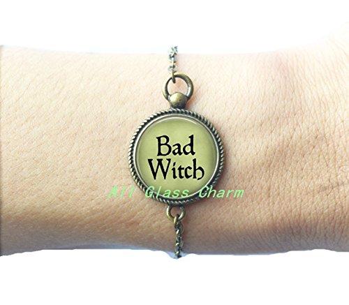 BAD WITCH Bracelet Bracelets - Witch Bracelets - Evil Witch Jewelry - Witch Costume Jewelry - Wicked Witch of the West Bracelets,AS0258