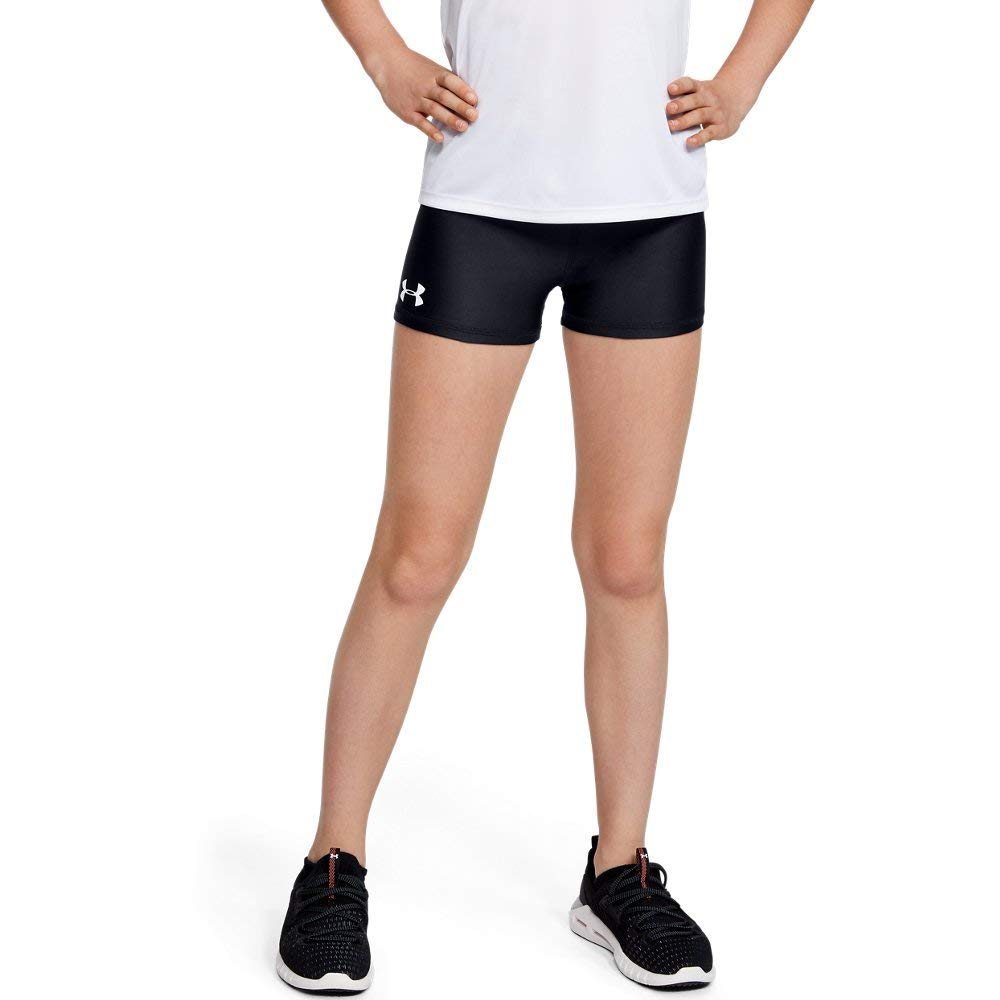 Under Armour Heatgear Armour shorty, Black//White, Youth Small by Under Armour