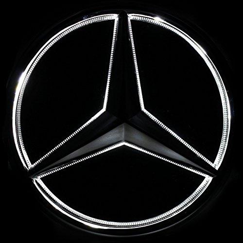 Mercedes Benz B Class W245 2005 2011 Front Bumper Grill: JetStyle LED Emblem For Mercedes Benz 2005-2013, Front Car