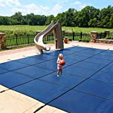 Dirt Defender Rectangular In-Ground Safety Pool Cover In Assorted Sizes