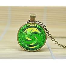 SunShine Day Forest Medallion Legend Of Zelda Necklace Glass Cabochon Necklace A3258
