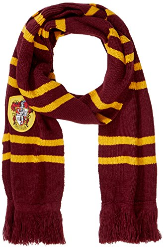 Harry Potter Scarf - Official - Ultra Soft Knitted Fabric - by (Harry Potter Scarf Gryffindor)