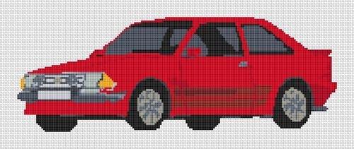Stitchtastic Kit de punto de cruz para Ford Escort RS Turbo, color azul: Amazon.es: Hogar