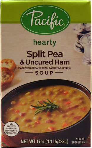 Pacific Natural Foods Hearty Soup Split Pea & Uncured Ham -- 17 fl oz - 2 pc by PACIFIC FOODS (Image #1)