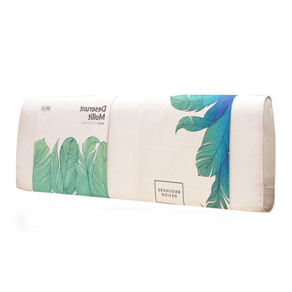 AIDELAI Backrest- Bedside Cushion, Double Bed Large Back Plant Flower Sofa Pillow can be Cleaned, with headboard/no headboard, 5 Colors, 3 (Color : 1#, Size : No headboard-150cm)
