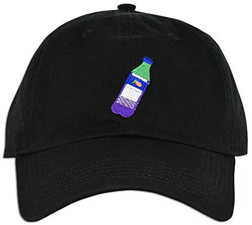 Lean Codein Dirty Sprite Emoji Memes Embroidered Dad Hat Baseball Cap Polo Style Adjustable (Black)