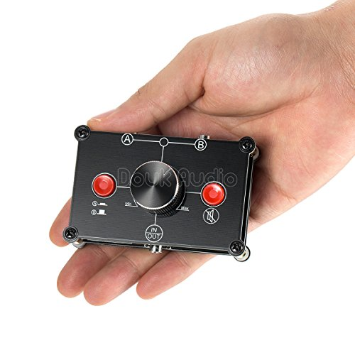 Nobsound Little Bear MC102 Mini 2(1)-in-1(2)-Out 3.5mm Stereo Audio Switch Audio Switcher Passive Speaker Headphone Manual Selector Splitter Box Audio Sharing (Black)