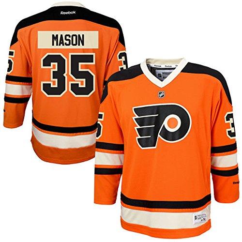 Youth Philadelphia Flyers Steve Mason Reebok Orange Alternate Replica Jersey Size Youth L/XL
