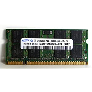 2.0GB (2048MB) Samsung Original PC2-6400 DDR2 800MHz SO-DIMM 200 Pin Memory Module