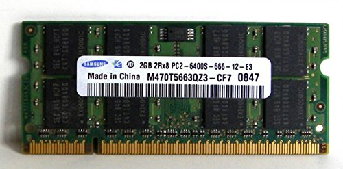 2.0GB (2048MB) Samsung Original PC2-6400 DDR2 800MHz SO-DIMM 200 Pin Memory Module ()