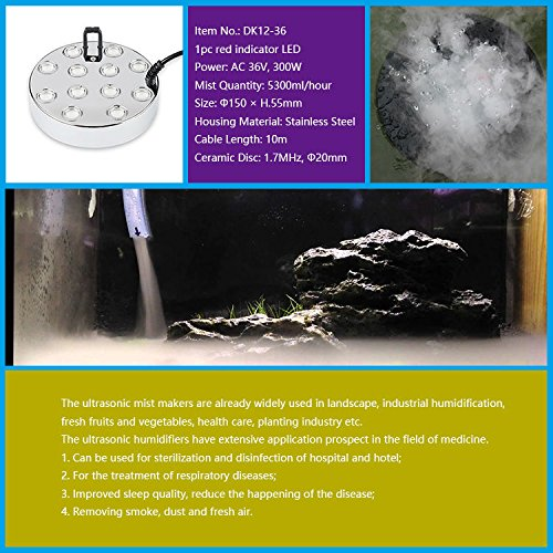 Super High Output 12 Head Pond Fogger by Fountain Emporium MM012