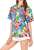 LA LEELA Womens Hawaiian Blouse Shirt Dress Shirts Short Sleeve Shirts Printed A