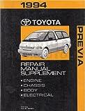1994 Toyota Previa Van Repair Shop Manual Original