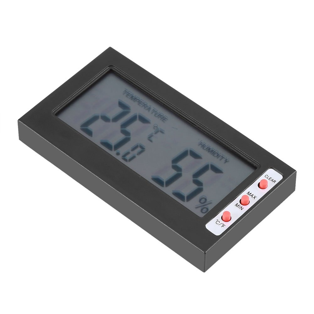 Black Aramox Digital Thermometer Hygrometer Indoor Temperature Humidity Meter Large LCD Display Max//Min Record ℃//℉ Switch for Home Office Warehouse Wine Cellar