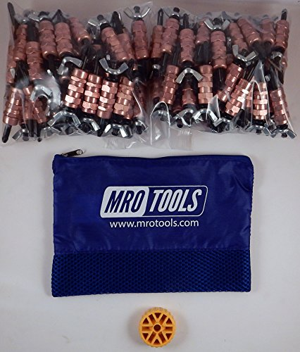 100 1/4 Standard Wing-Nut Cleco Fasteners w HBHT Tool & Carry Bag (KWN1S100-1/4) by MRO Tools Cleco Fasteners