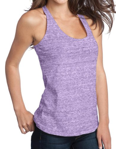 Yoga Clothing For You Ladies Tri Blend T-back Style Tank, Medium Eggplant Heather For Sale