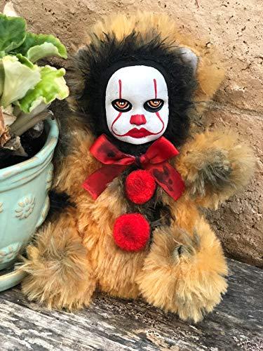 OOAK Pennywise IT Clown Teddy Bear #5 Creepy Horror Doll Art Christie Creepydolls from Christie Creepy Dolls