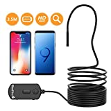 BlueFire Upgraded 1080P Semi-rigid Inspection Camera 2 MP HD WiFi Borescope Snake Camera Wireless Endoscope Pipe Camera with Zoomable Picture and 1800mAh Battery for Android and iOS Smartphone, iPad, Tablet (11.5FT)