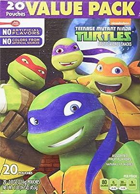 Teenage Mutant Ninja Turtles Fruit Flavored Snacks 20 Piece Box, 16 Ounce