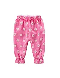 [Flower Rose Red] Baby Harem Pants Bloomers Kids Outdoor Summer Linen Pants