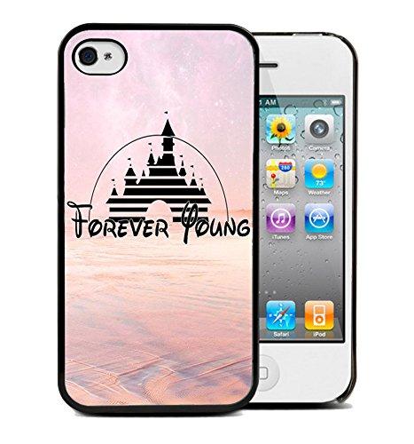 Coque silicone BUMPER souple IPHONE 5c - Forever Young motif 4 DESIGN case+ Film de protection OFFERT