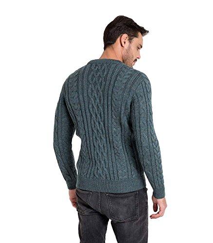 WoolOvers Pullover mit Aran-Muster aus reiner Wolle für Herren Kiltimagh, S
