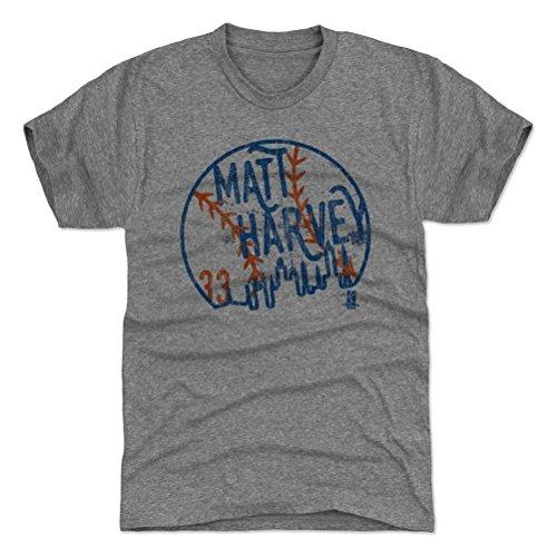 500 LEVEL Matt Harvey Premium Shirt XX-Large Tri Gray - New York Baseball Fan Apparel - Matt Harvey Skyball B