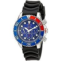 Seiko Men's SSC031 Stainless Steel Solar Dive Watch