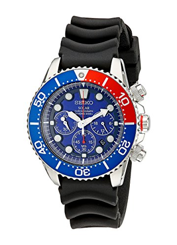 Seiko Men's SSC031 Stainless Steel Solar Dive Watch