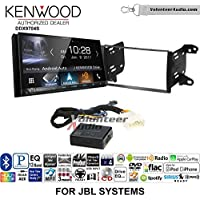Volunteer Audio Kenwood DDX9704S Double Din Radio Install Kit with Apple Carplay Android Auto Fits 2011-2013 Toyota Matrix with Amplified System