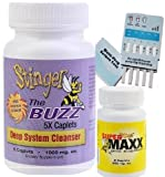1 Bottle (5 Caplets) Stinger The Buzz 5x Strength 1 Hour Total Detox Flush w/ 1 free 6 Panel drug tests (mAMP/THC/OXY/COC/OPI/BZO) by Guardian Pharmaceuticals
