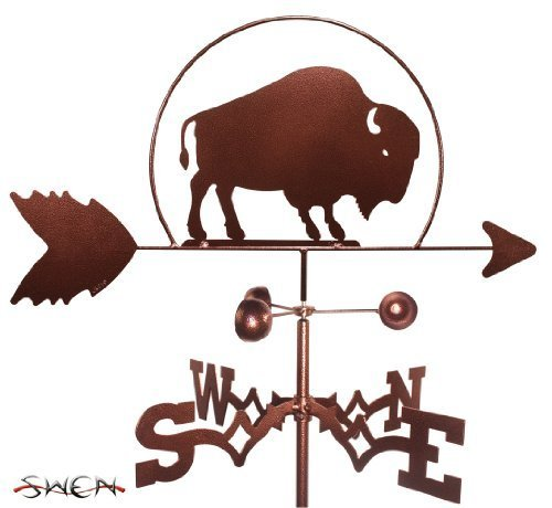 Hand Made BISON BUFFALO FLAT POST Mount Weathervane ~NEW~ by SWEN Products