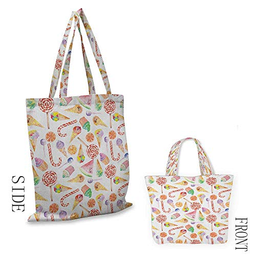 - Tote bag ColorfulIce Cream Candy Cakes Lollipop Clementine Fruits Cute Birthday Celebration Pattern Multicolor18