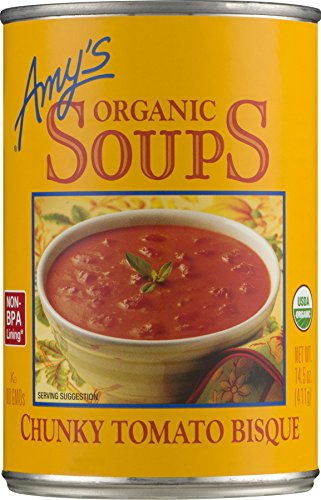 Amy's Organic Chunky Tomato Bisque Soup, Gluten Free, 14.5-Ounce