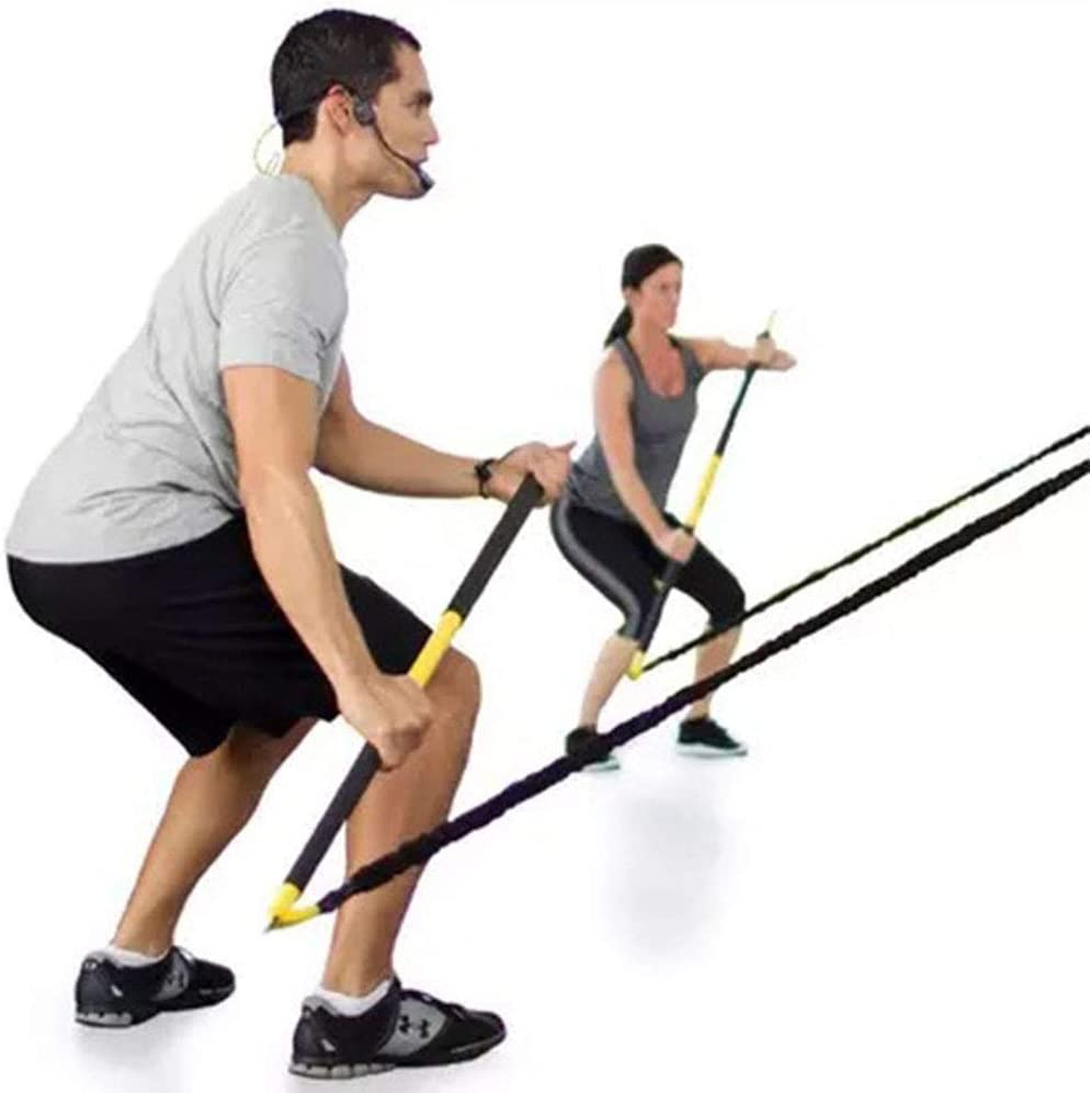 ASports Kit Básico de Entrenamiento Rip Trainer - Barra de Entrenamiento y Bandas de Resistencia para Fortalecer el Cuerpo Central
