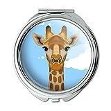 Giraffe Zoo Animal Safari Compact Purse Mirror