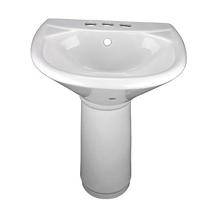 Beau Child Sized White Pedestal Sink Grade A Vitreous China 4u0026quot;u0026quot; Center  Set Faucet