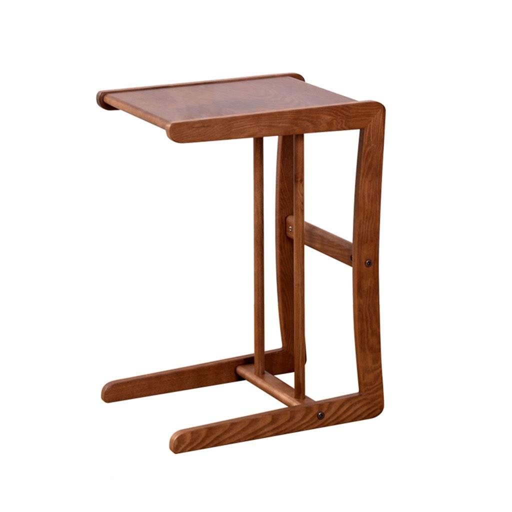 Tisch und Stuhl Beistelltisch Multifunktions-Couchtisch Rack Home Wohnzimmer Sofa Beistelltisch Mobiler Couchtisch Schlafzimmer Nachttisch Massivholz Seitenecke (Color : Brown, Size : 40 * 30 * 55CM)