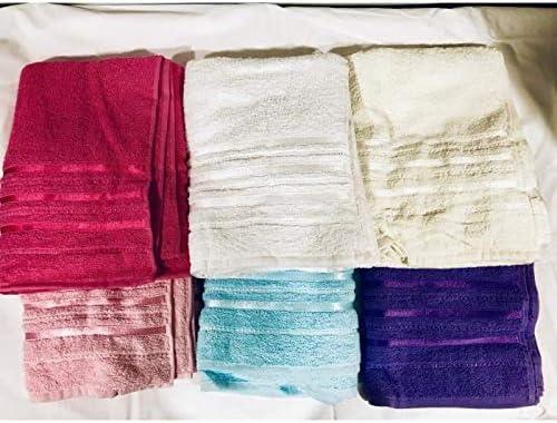 Toalla de baño 100 x 150 cm, lote de 4, 100% algodón.: Amazon.es: Hogar