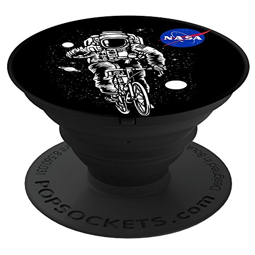 Fuzewear - NASA NASA Astronaut Biking PopSockets Stand for Smartphones and Tablets - Astronaut Stands