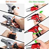 Blow Torch, Professional Kitchen Cooking Torch with Safety Lock Adjustable Flame Refillable Mini Blow Torch Lighter for Crafts Cooking BBQ Baking Brulee Creme DIY Soldering