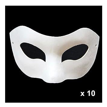 Super44day 10 Stück Weiß Eye Pappmaché Papier Masken für Kinder zu ...